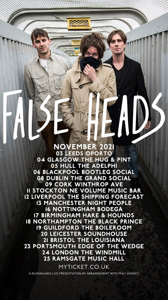 False Heads tour poster