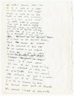 © Collection Gilbert Sommier - Texte manuscrit de la chanson Nantes, 1963