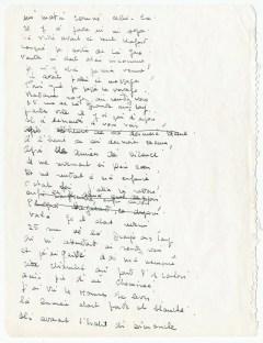 © Collection Gilbert Sommier - Texte manuscrit de la chanson Nantes, 1963