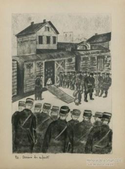 Georges Horan-Koiransky, Première arrivée des enfants en gare du Bourget-Drancy, sans parents ni secours