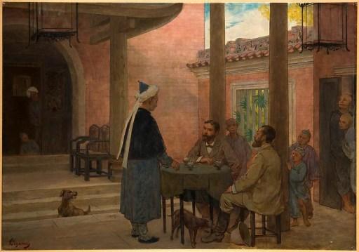 Chez les musulmans chinois dans la mosquée Huaishengsi à Canton par Félix Élie Régamey (1844-1907) © RMN-Grand Palais (MNAAG, Paris) / Mathieu Rabeau