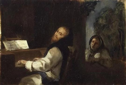 """Eugène Delacroix,""""Charles-Quint au monastère de Yuste"""", 1837"""