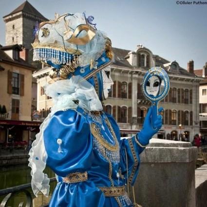 Masque au Carnaval vénitien d'Annecy © Olivier Puthon