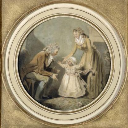 George Morland, Les Premiers Pas, dessin, vers 1788, Paris, musée Cognacq-Jay (J. 181B.177), ©Musée Cognacq-Jay/Roger-Viollet
