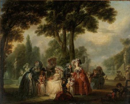 Watteau de Lille, Assemblée dans un parc, huile sur toile, vers 1785, Paris, musée Cognacq-Jay (J 108), © Musée Cognacq