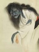 Peinture du fantôme d'Oiwa, signée Ikkyo © MUSÉE DU QUAI BRANLY - JACQUES CHIRAC, PHOTO CLAUDE GERMAIN