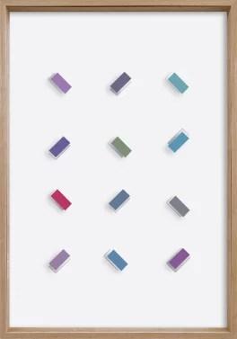 CHRISTIAN MEGERT / S.T., 2006, mirror, wood, acrylic under glass, 100 x 70 x 6 cm