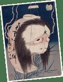 Le fantôme d'Oiwa, vers 1831-32. Artiste Katsushika Hokusai © MUSÉE DU QUAI BRANLY - JACQUES CHIRAC