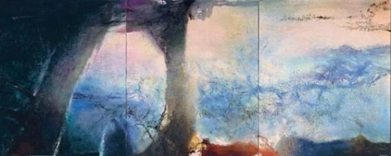 Zao Wou-Ki, Hommage à Claude Monet , février-juin 91 – Triptyque, 1991. Collection particulière Photo : Jean-Louis Losi Zao Wou-Ki © ADAGP, Paris, 2018
