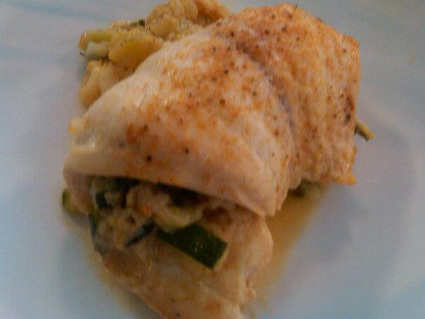 Stuffed Tilapia Steamed on the Grill