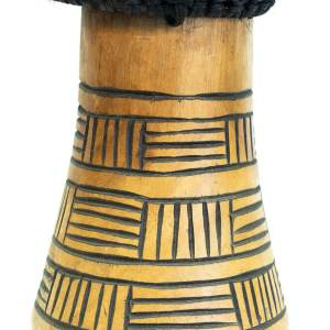 lightwood african-style drum, closeup