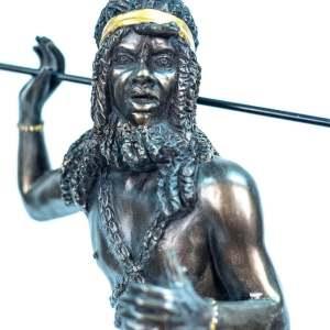 figurine, zulu male dancer, closeup