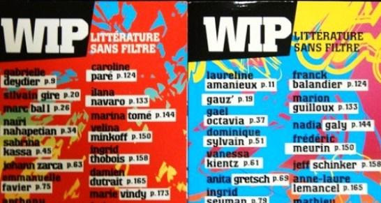 Appel à textes de la revue WIP Littérature sans filtre