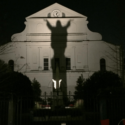 the back of st. louis cathedral