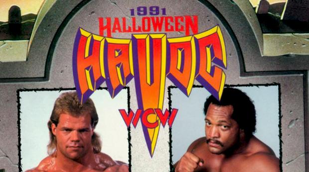 Image result for wcw halloween havoc 1991 wwe.com Ron Simmons vs Lex Luger