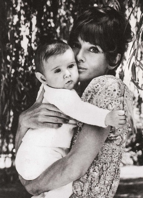 Audrey Hepburn and her son, Luca Dotti