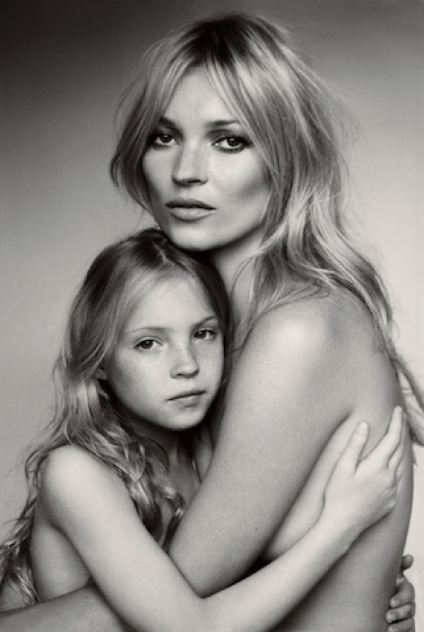 Kate Moss and her daughter, Lila Grace.