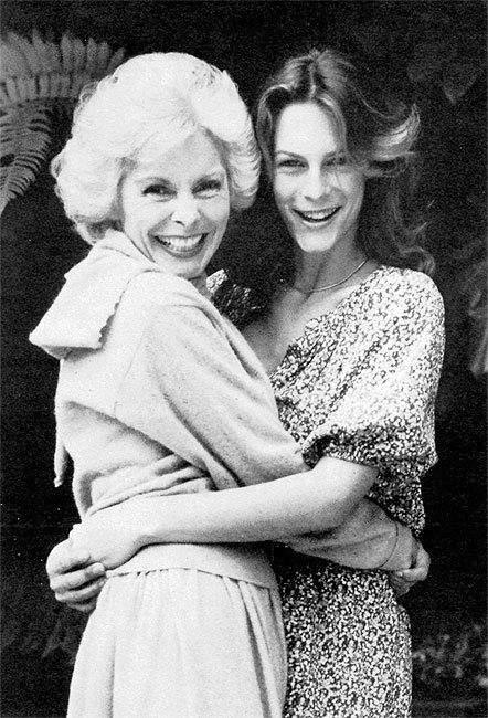 Janet Leigh and her daughter, Jamie Lee Curtis