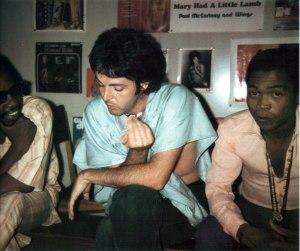 Fela Anikulapo Kuti with Sir Paul McCartney.