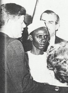 John F Kennedy and a young Shehu Shagari in Washington D.C -1961