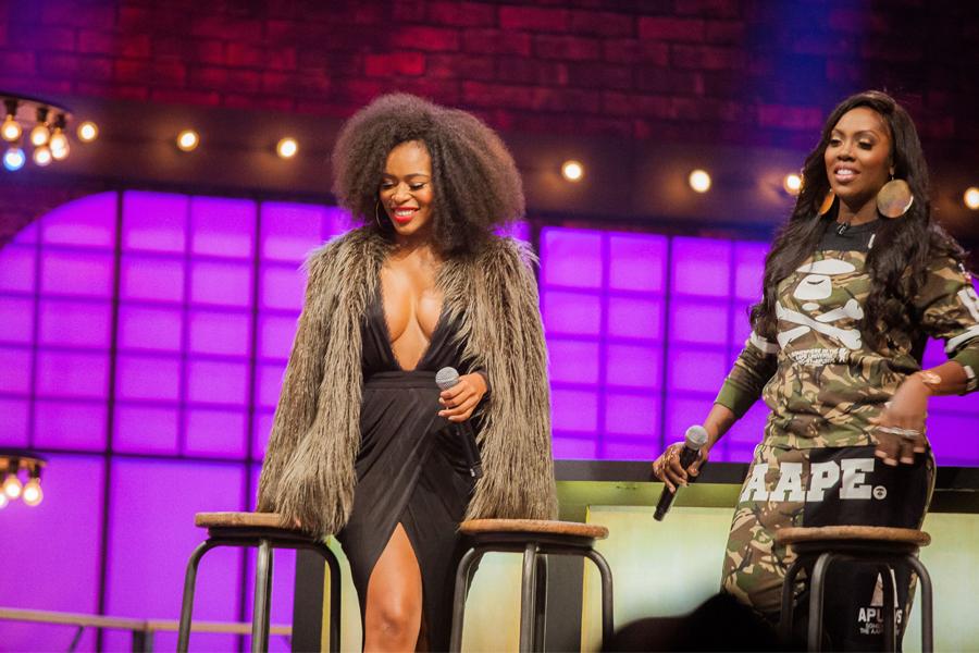 Nomzamo Mbatha and Tiwa Savage on Lip Sync Battle Africa