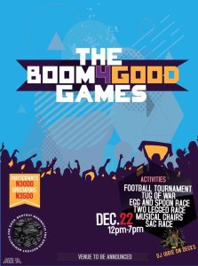 Boom4Good Games: December 22nd @ [To be confirmed]