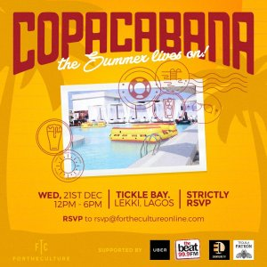 Copa Cabana: December 21st @ Tickle Bay