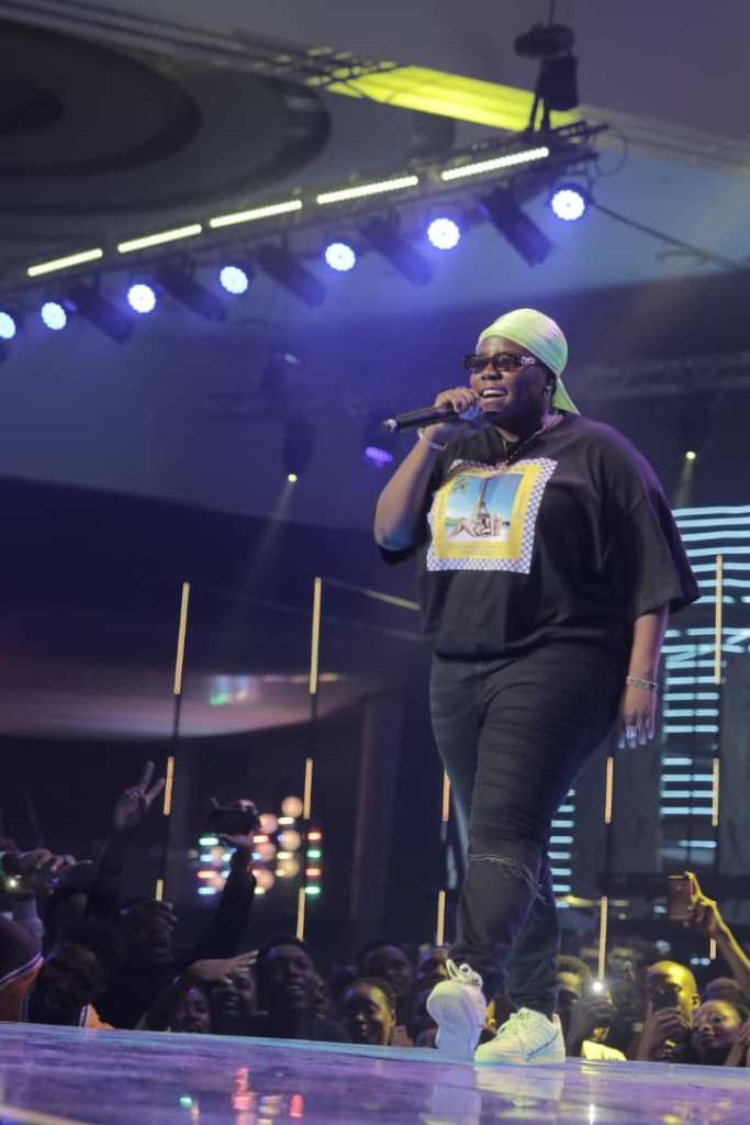 Teni the Entertainer thrills the crowd after being named the Best New Artiste at the Soundicty MVP Awards