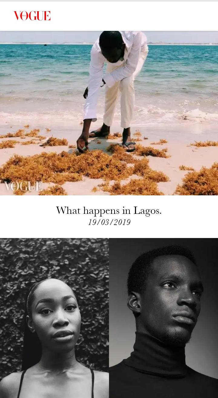 Gbenga Olaniyi Vogue Italia