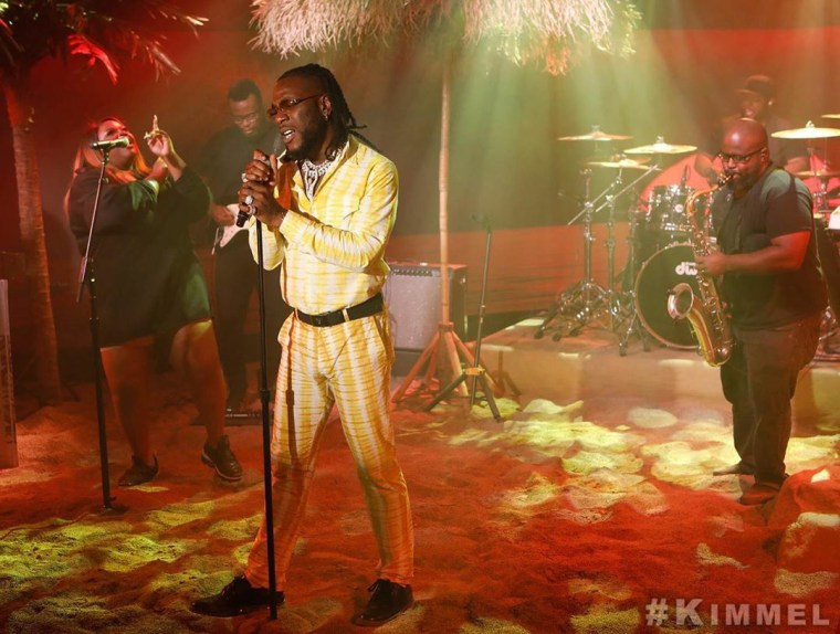 Burna Boy perfoms anybody on Jimmy Kimmel live