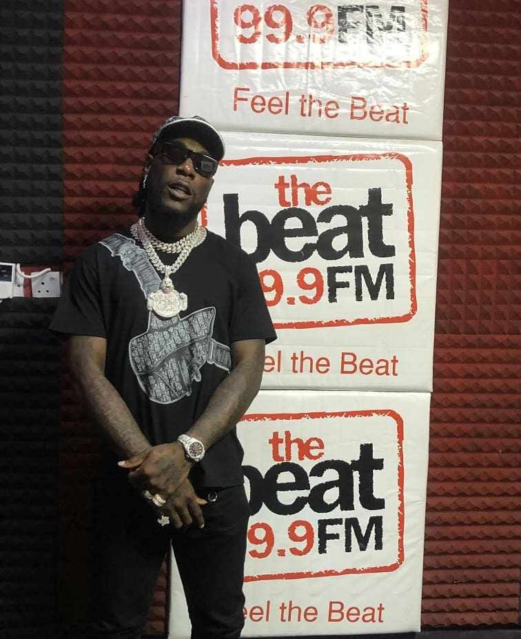 Burna Boy on the beat fm 999 with Olisa and Osi