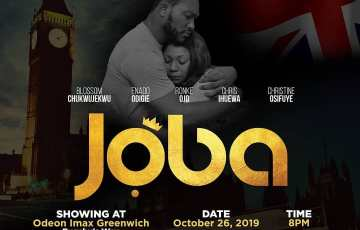 Joba showing on Showmax by Biodun Stephen starring Blossom Chukwujekwu
