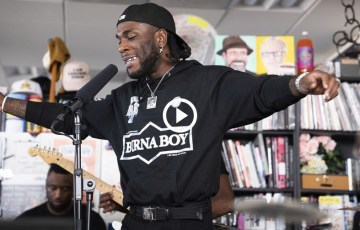 Watch Burna Boy's NPR Tiny Desk Concert