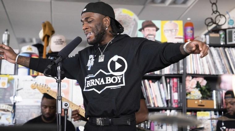 Watch Burna Boy's NPR Tiny Desk Concert