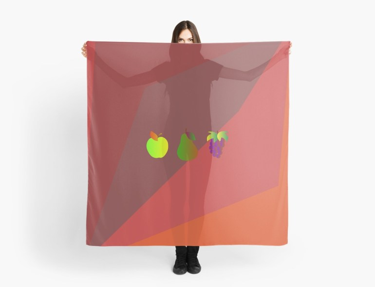 Apple Pear Grapes Scarf