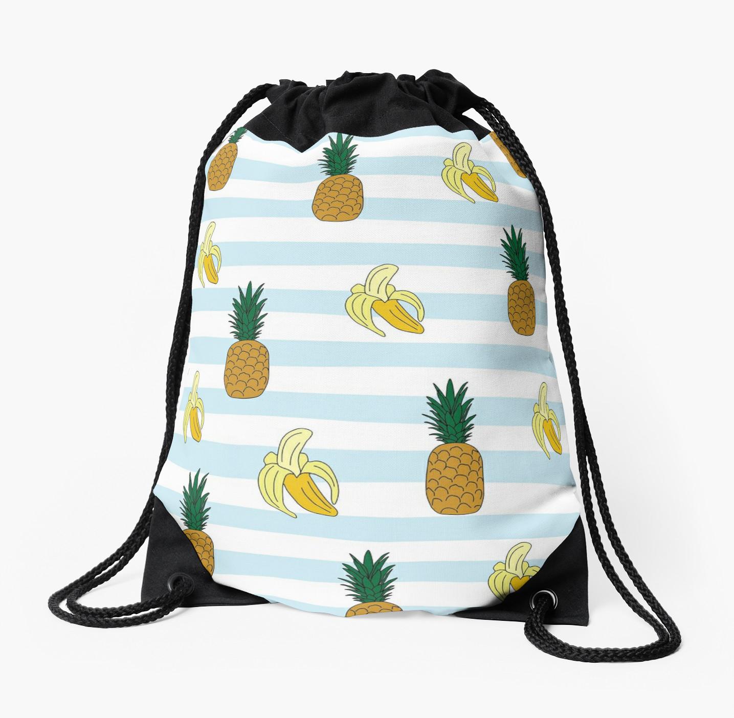 Culturedarm Bananas Pineapples Drawstring Bag