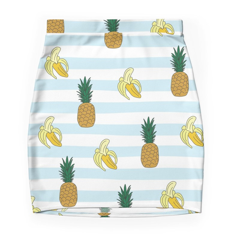 Culturedarm Bananas Pineapples Mini Skirt