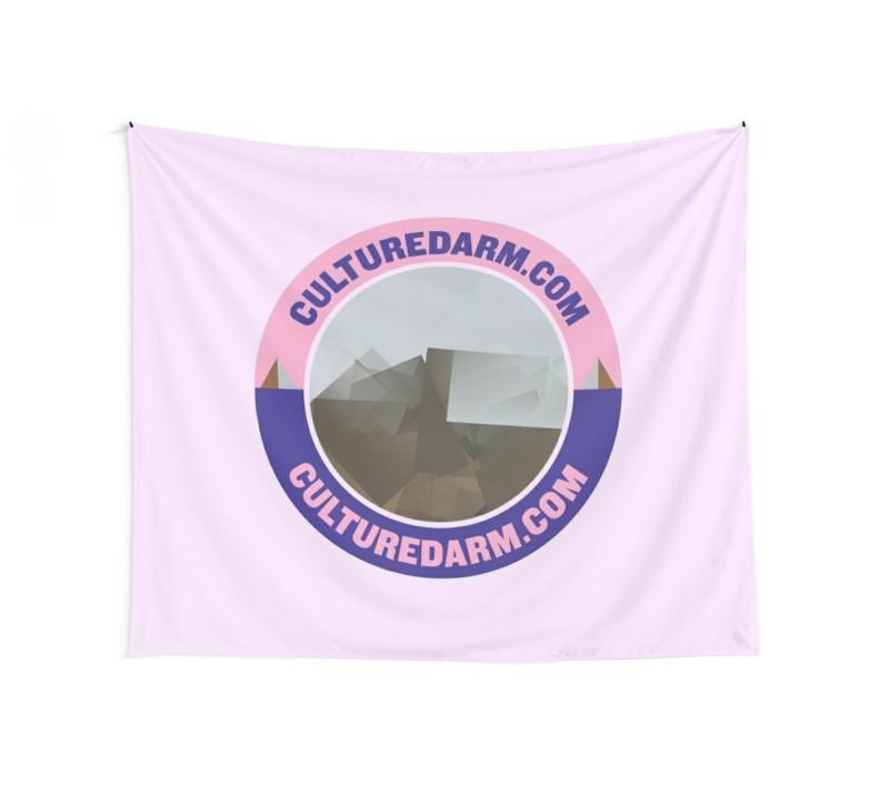 Culturedarm Circle Indigo Lavender Pink Wall Tapestry