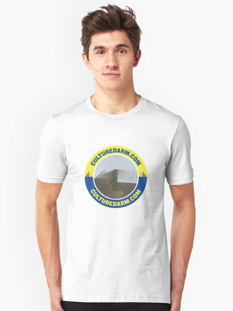 Culturedarm Circle Sapphire Lemon White Unisex T-Shirt