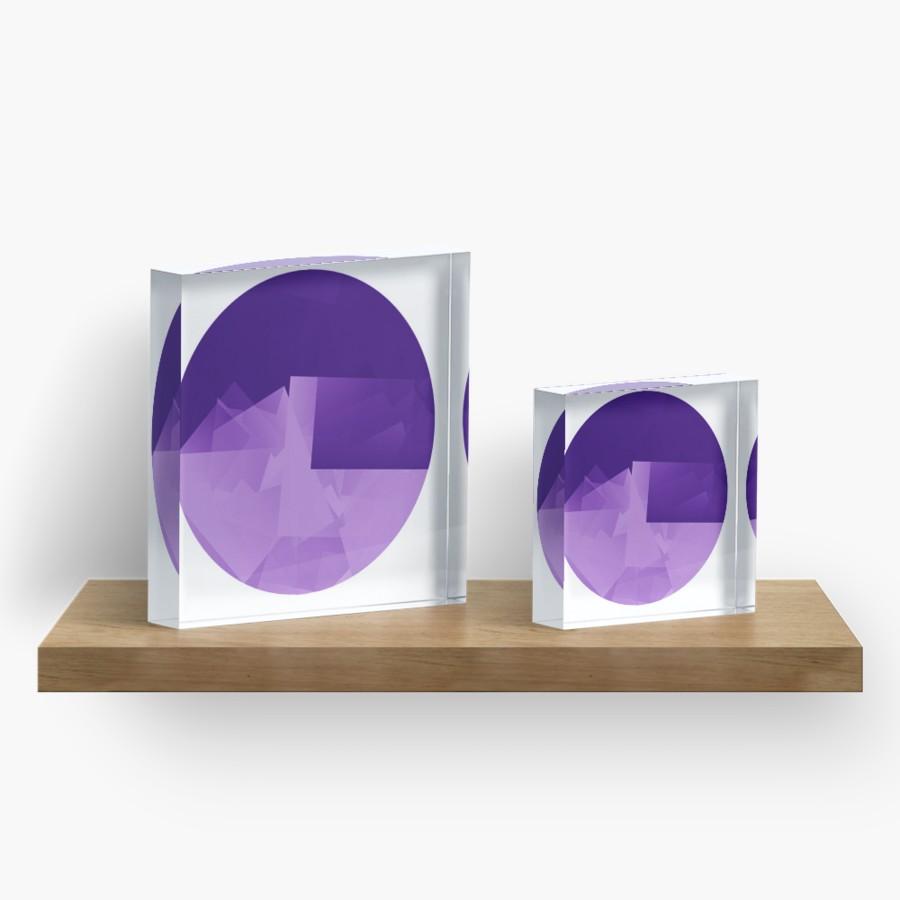 Culturedarm Logo Indigo Violet Acrylic Blocks