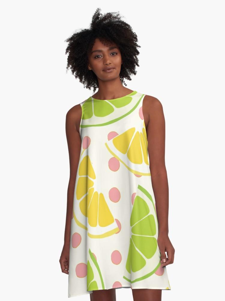 Culturedarm Lemons Limes A-Line Dress