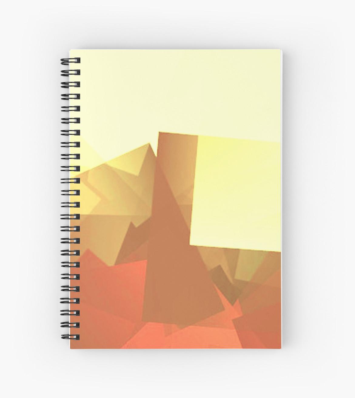 Culturedarm Logo Lemon and Coquelicot Light Spiral Notebook