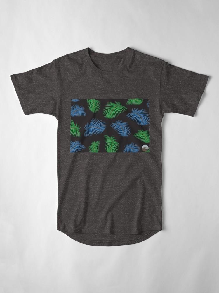Culturedarm Palm Fronds Charcoal Heather Long T-Shirt