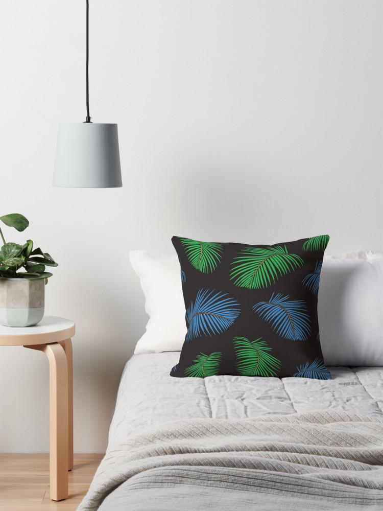 Culturedarm Palm Fronds Throw Pillow