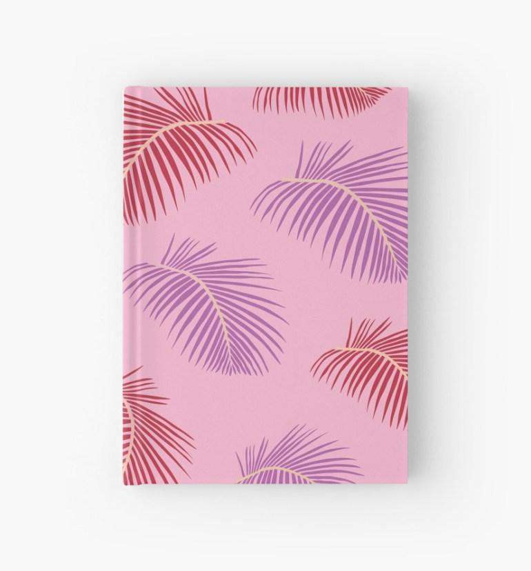 Culturedarm Pink Fronds Hardcover Journal