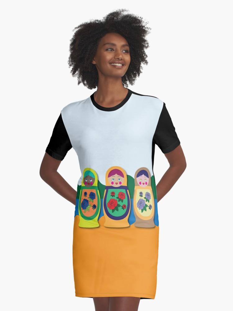 Culturedarm Russian Dolls Graphic T-Shirt Dress
