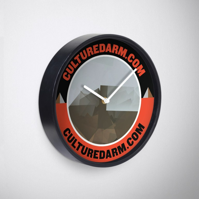Culturedarm Circle Scarlet Off-Black Clock