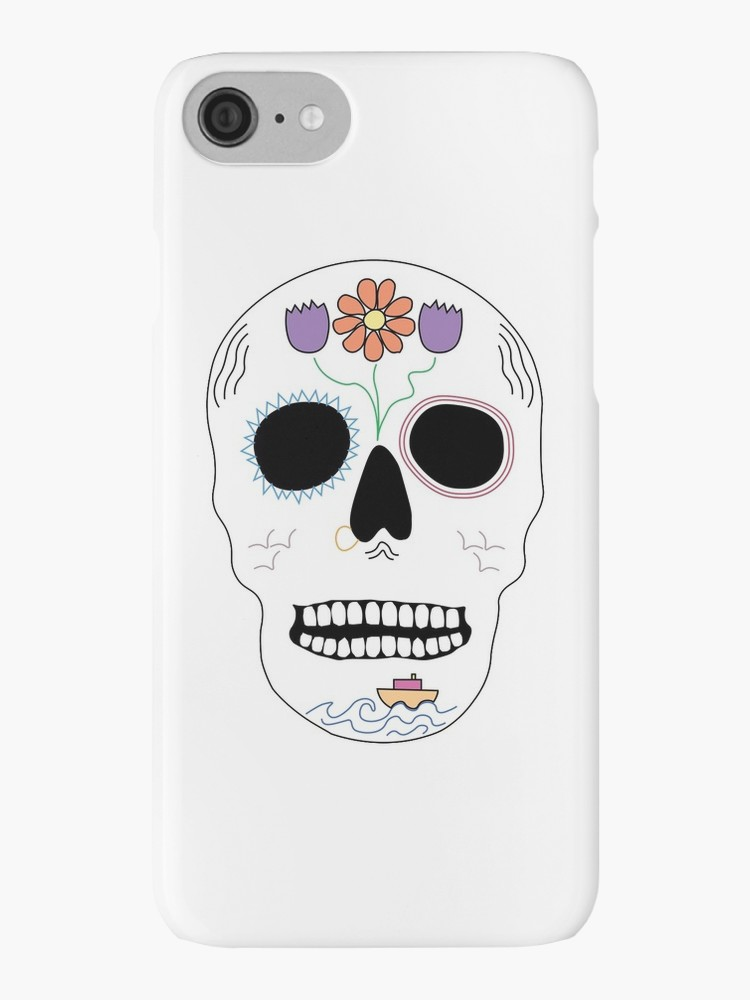 Floral Seafaring Skull iPhone Case