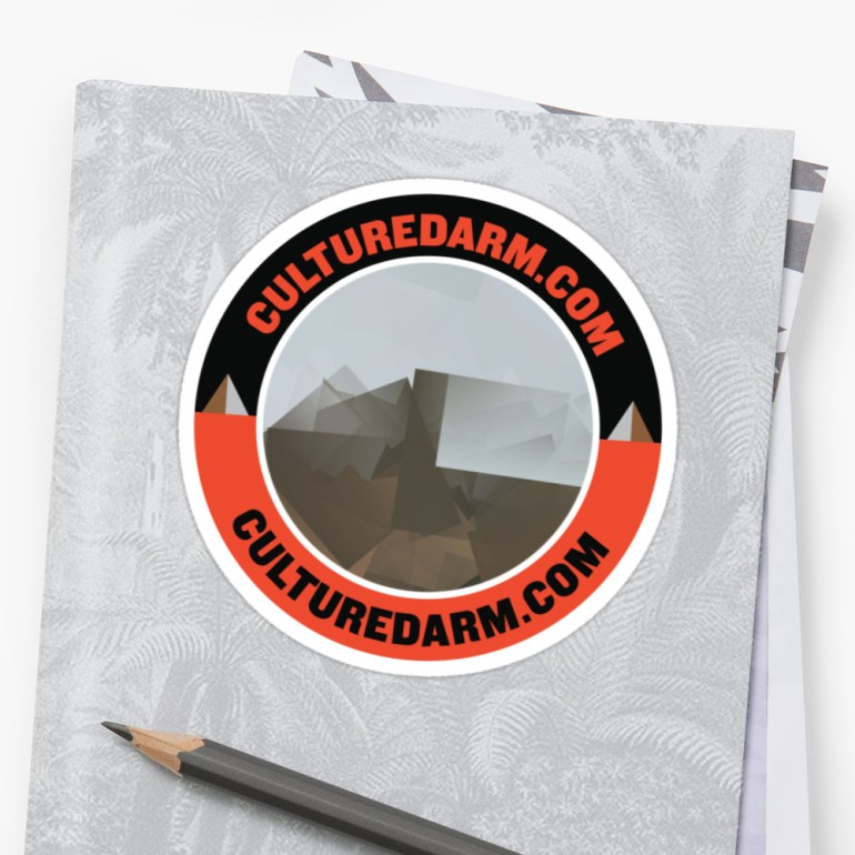 Culturedarm Circle Scarlet Off-Black Sticker