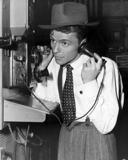 frank sinatra on the blower